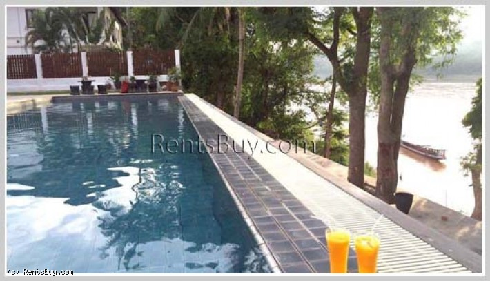 ID: 3716 - Holiday house with swimming pool with Mekong River view for sale in city of Luangprabang