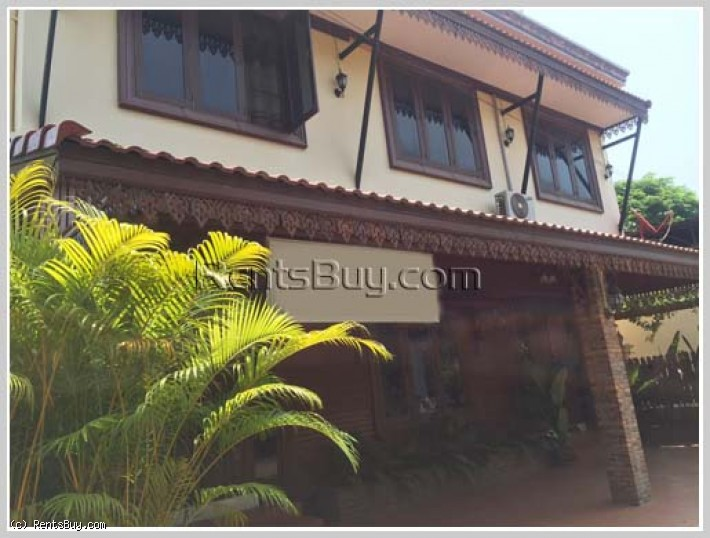 ID: 121 - Modern house with fully furnished by pave road for rent