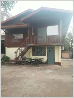 ID: 257 - Lao style house near Anjee Chinese Market for rent