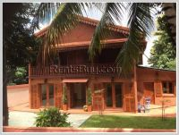 ID 2903- Lao style house with large garden for rent