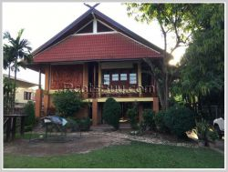 ID: 4325 - Lao style house near Sengdara Fitness with large garden for rent