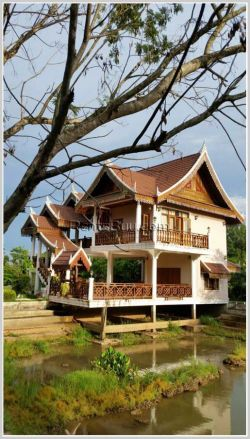 ID: 3809 - Beautiful house with Fish pond and near National University of Laos for rent
