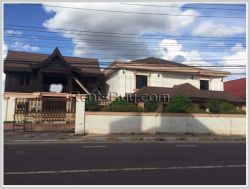 ID: 3283 - Lao style house near main road for rent