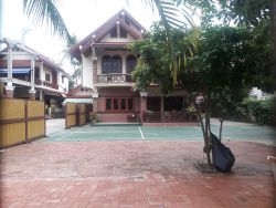 ID: 4132 - The beautiful house with Badminton Court and large parking for rent in Ban Dongnasok