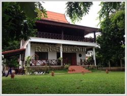 ID: 3242 - Lao Classic house with fully furnished near Mekong River for rent