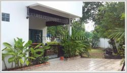 ID: 3345 - Nice house with fully furnished and large garden for rent in Sisattanak District