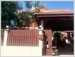 ID: 3364 - Dream home with fully furnished by pave road for rent in Sisattanak district