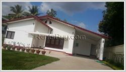 ID: 3457 - Pretty house for rent with fully furnished by concrete road in the diplomatic area.