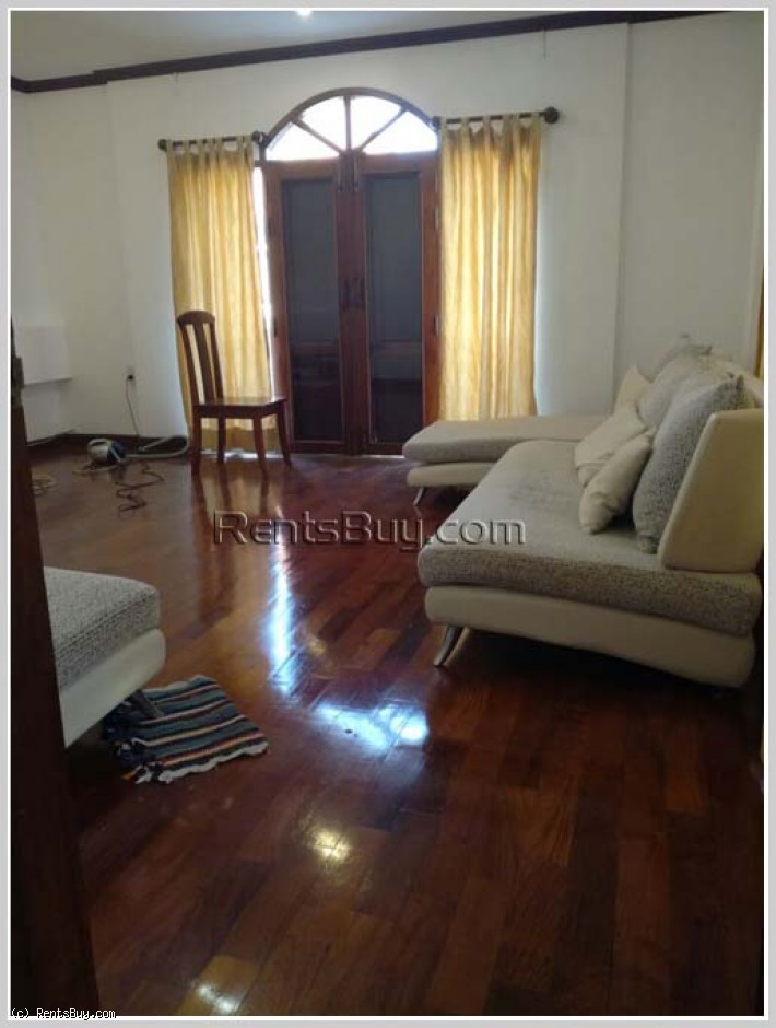 ID: 62 - House with fully furnished and near 103 Hospital for rent in Sisattanak district, Vientiane