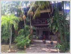 ID: 3677 - Lao style shady house 103 hospital and M-point mart (Saphanthong) for rent