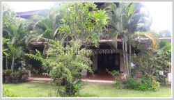 ID: 3700 - Nice Lao style house near Kettisack International School for rent