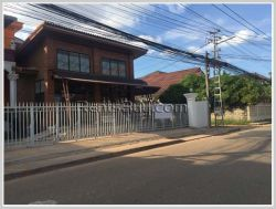 ID: 2969 -Stylish bricks shophouse at the front of Vientiane international school.