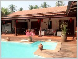 ID: 3077 - Villa house with swimming pool only 6km from the city for sale in Sisattanak district