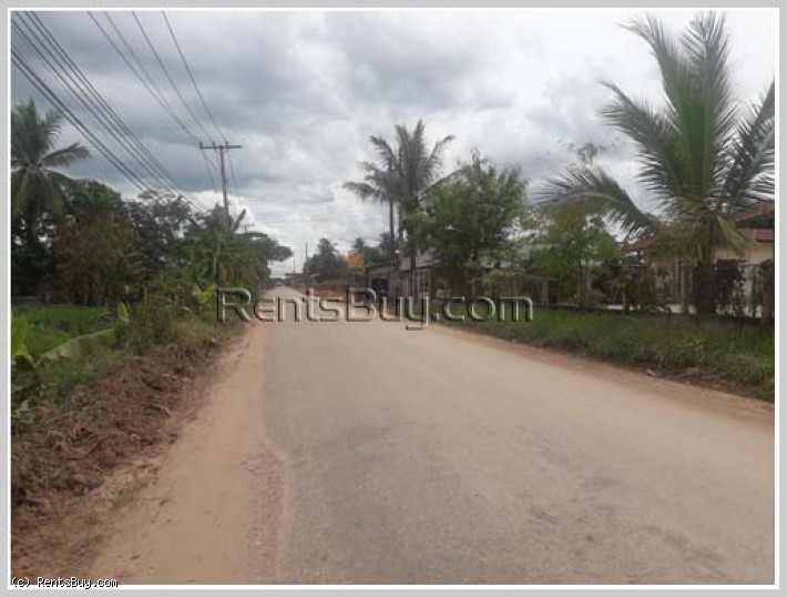 ID: 3883 - Nice land for rent close to Sikay Market by pave road in Sibounhuang village