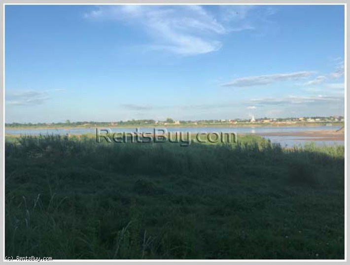 ID: 4345 - Premium Vacant land by main road and Mekong for sale in Ban Thinthom