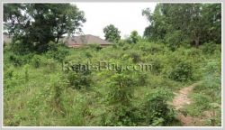 ID: 207 - Vacant land by pave road for sale in Ban Nonkor, Saysetta District