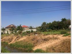 ID: 3496 - Big plot of land for sale by pave road near Lao National Convention Centre