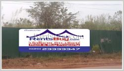 ID: 3885 - Vacant land near main road for sale in developed area of Sikhottabong