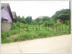 ID: 3287 - Vacant land near Vientiane International School next to concrete road for sale