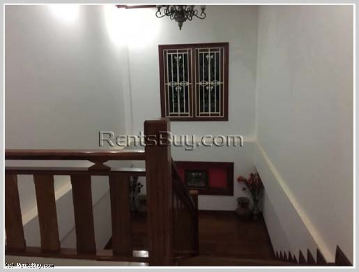ID: 3859 - The luxury house with large yard near Khamsavath Market for rent