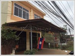 ID: 1960 - Shop house by pave road for rent in Sisattanak district