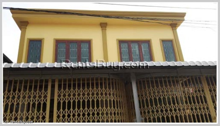 ID: 3417 - Nice shop-house for rent next to main road, Chanthabouly district.