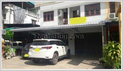 ID: 1342 - Shophouse in town near main road and Patuxay for rent