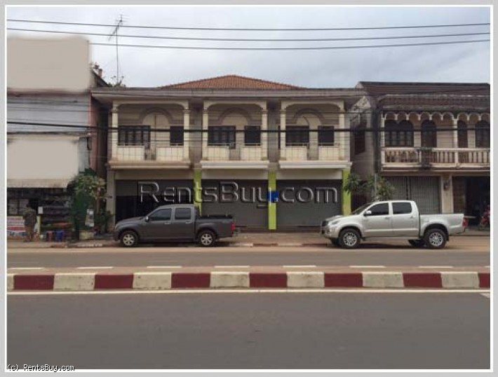 ID: 3422- Nice shop-house next to main road for rent near Sikay market.