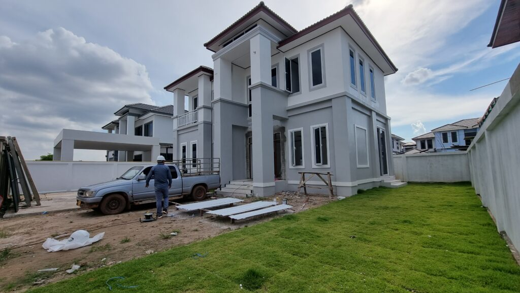 One of the houses in Nongnieng Project